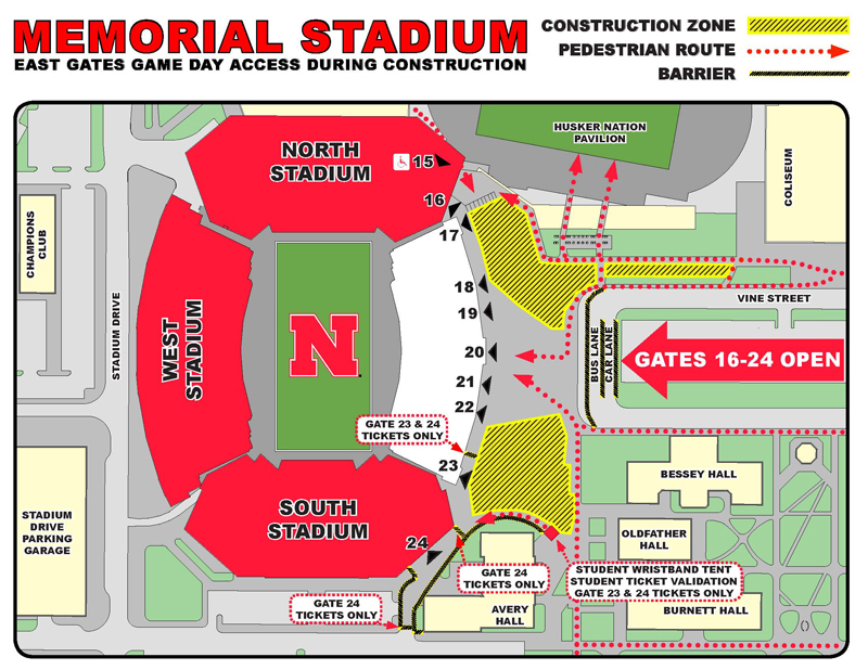 Stadium Construction Roundabouts Are New For Saturday