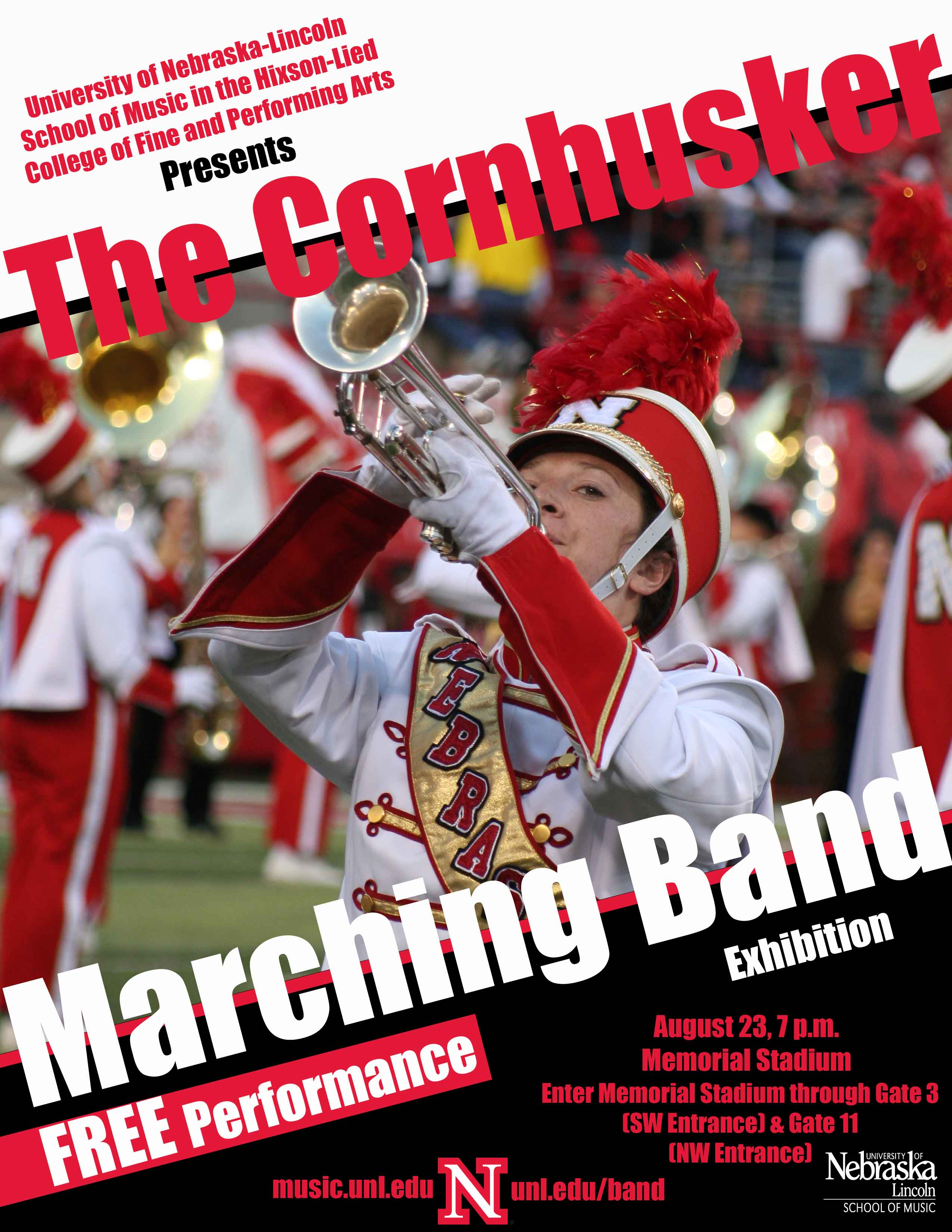 The Cornhusker Marching Band Exhibition | Music@UNL