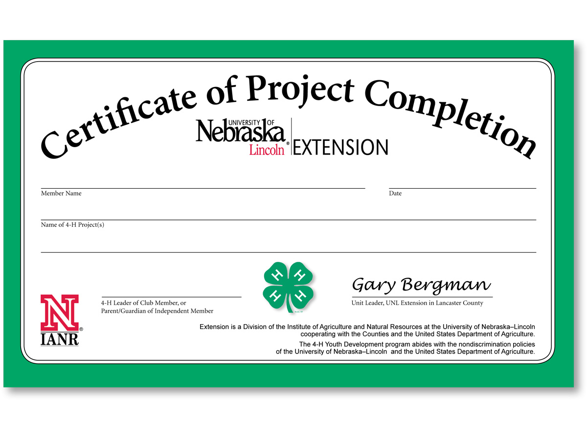 Project Completion Certificate Format Mechanical Completion – Project Completion Certificate Format