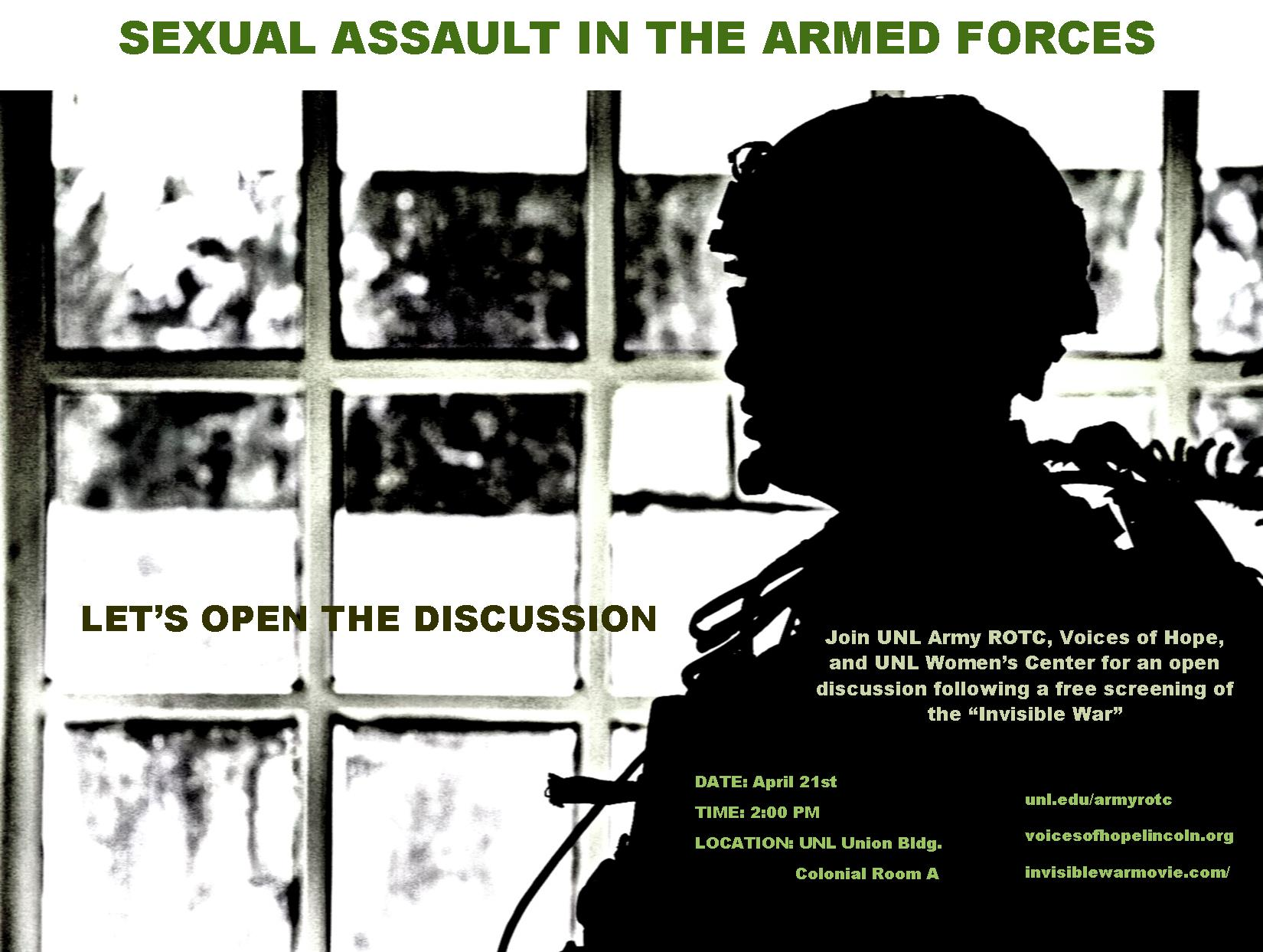 sexual assualt in the military Although sexual assaults in the military decreased and reporting of the crime increased last year, such assaults continue to negatively impact readiness, the director of dod's sexual assault.