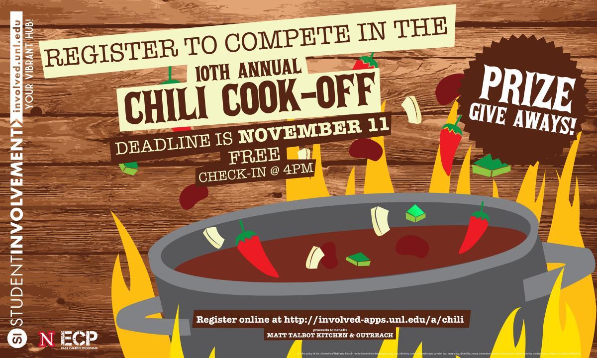 Registration Open For Student Involvement S Annual Chili