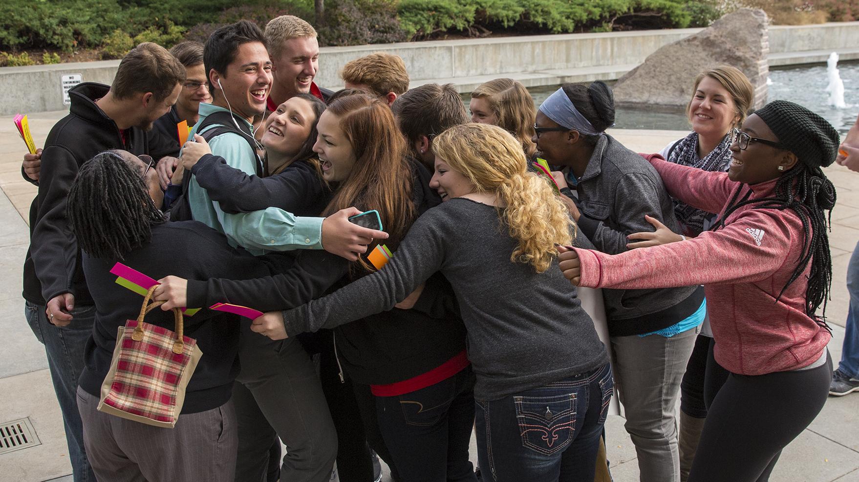 Free hugs experiment breaks social norms | Nebraska Today ...