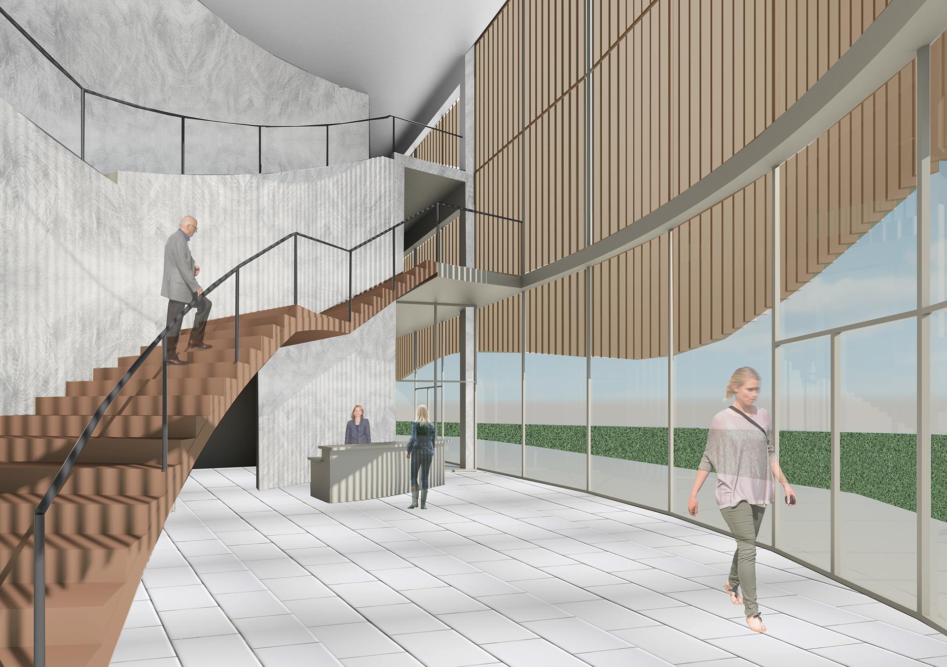 Interior View Of A Telephone Museum Design Concept By Rachel Jensen, A  Junior Architectural Studies Major.