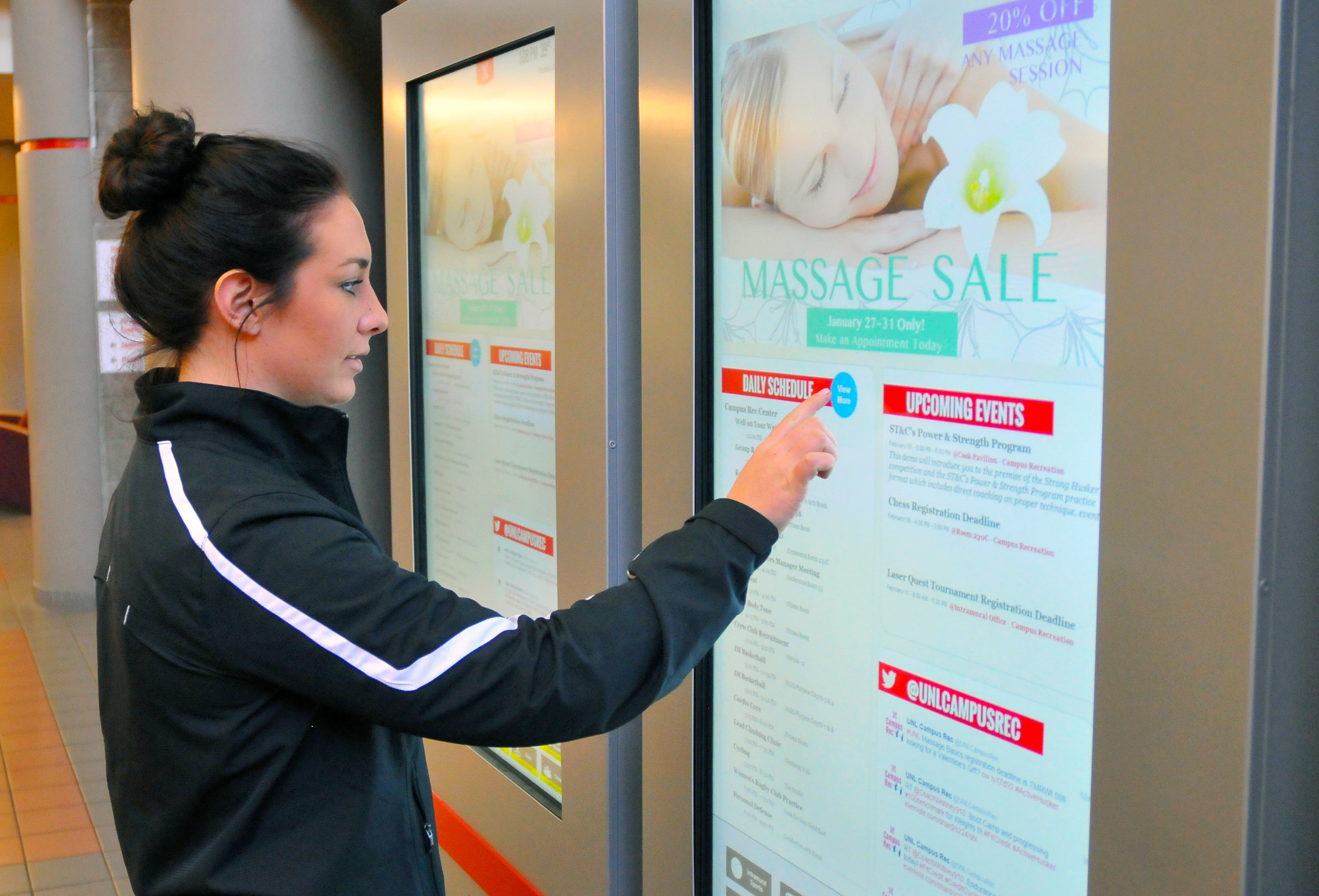 Digital Signage Use Expands Across Campus Nebraska Today