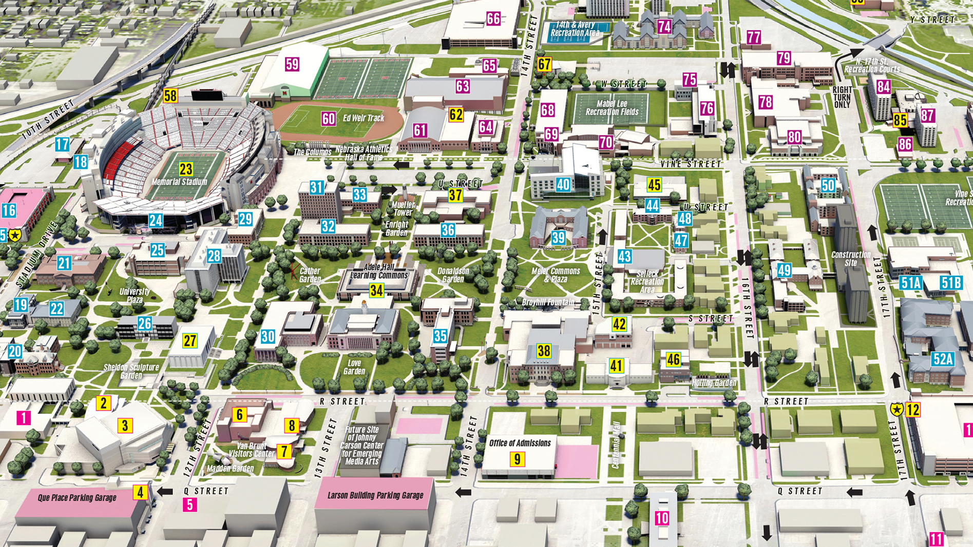 university of nebraska lincoln map New Copies Of Campus Maps Available Nebraska Today University university of nebraska lincoln map