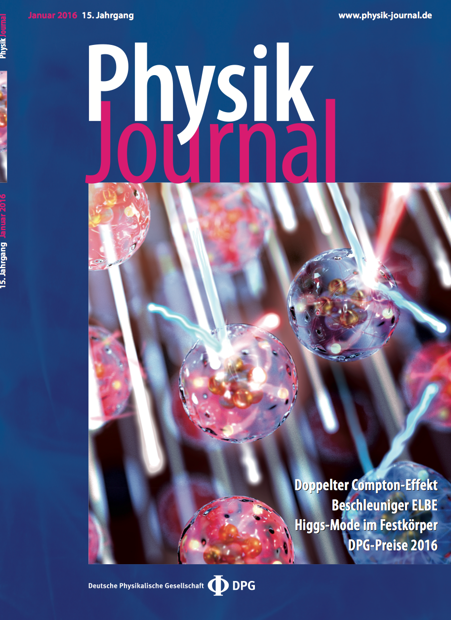 Physik Journal cover 2016