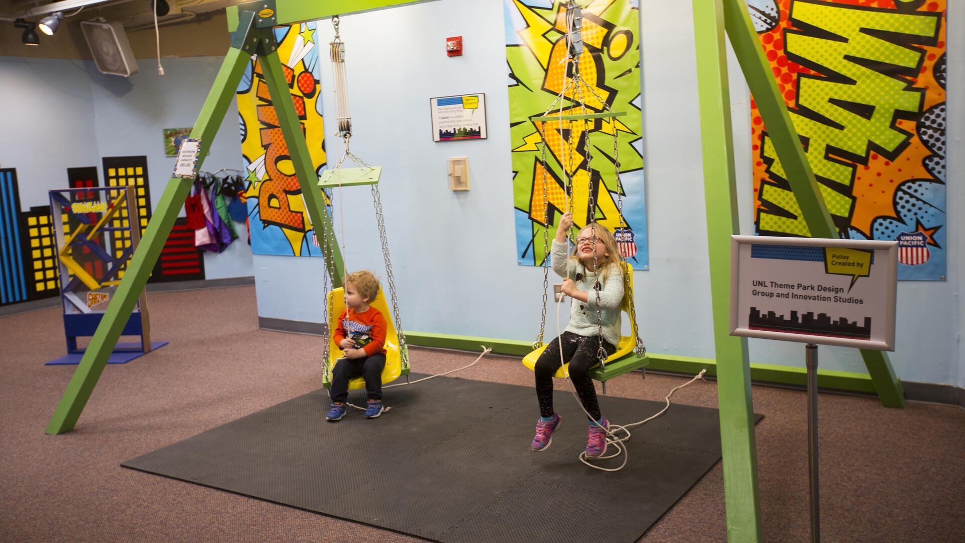 Students design, build kids' superhero exhibit
