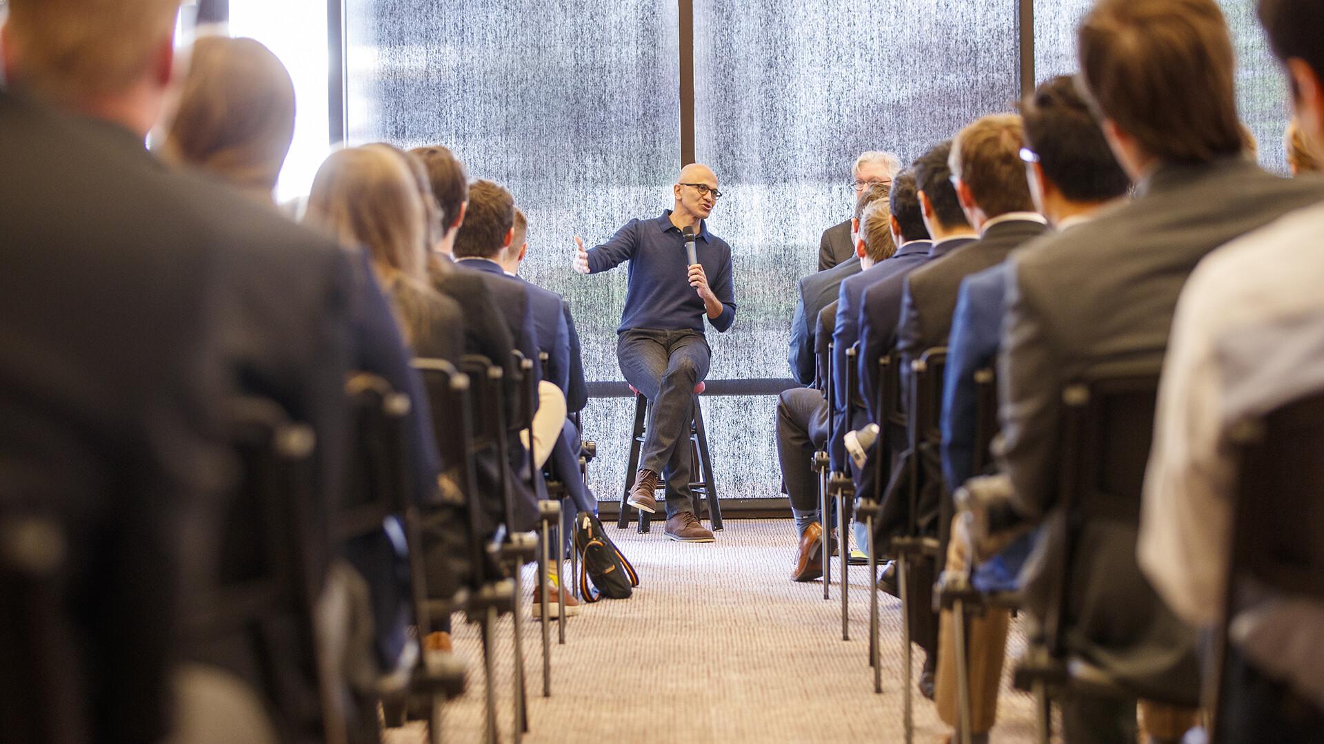 Nadella talks leadership, innovation