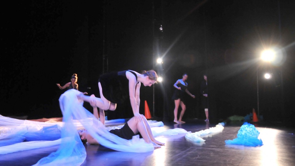 UNL dance students perform in the Johnny Carson Theater.