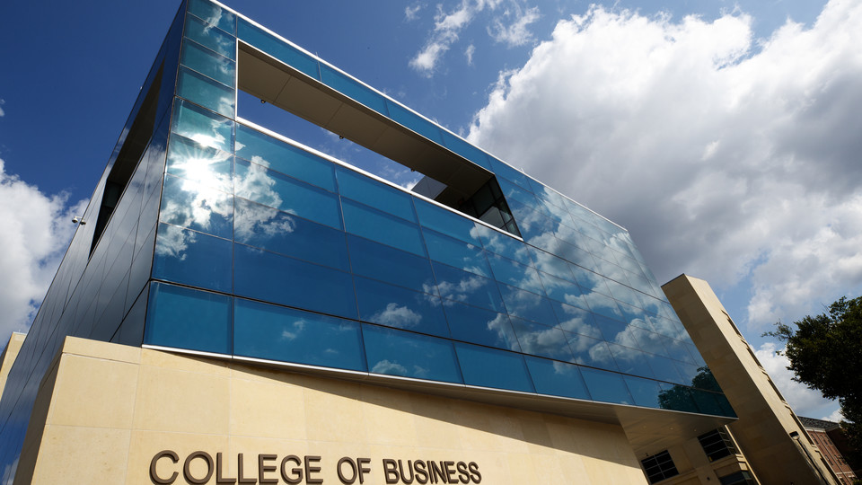 The College of Business will celebrate its first B-Week in the new 240,000-square-foot Howard L. Hawks Hall.