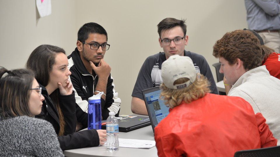 Photo caption: Students work in teams during a previous 48-Hour Challenge. This year, the challenge is offered as both an extracurricular event and as part of a new pop-up class.