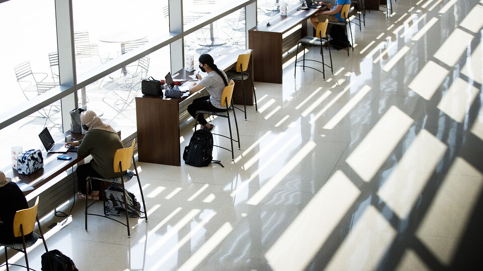 Additional study spaces on campus have been identified for students.