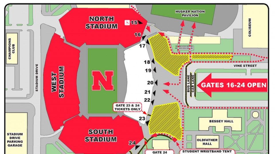 Stadium Construction Roundabouts Are New For Saturday Nebraska