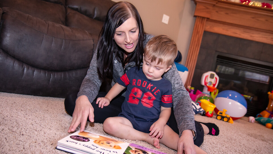 A collaborative, multi-institution project is exploring how prekindergarten children's early language gains predict their kindergarten readiness and later reading outcomes. (Photo by Kyleigh Skaggs, CYFS)