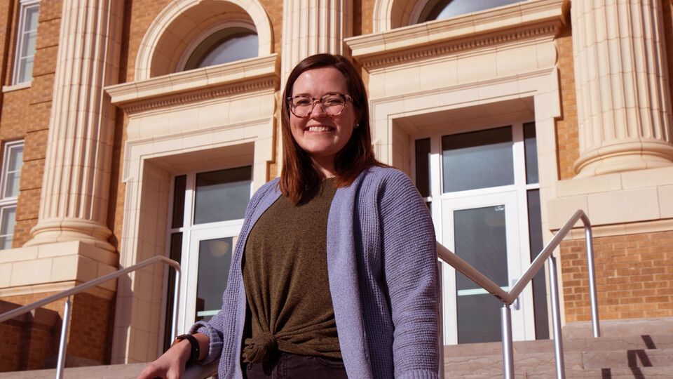 Hannah Kerby, doctoral candidate in school psychology, is exploring how children's social-emotional skills are influenced by their residential neighborhoods. (Photo by Chuck Green, CYFS)