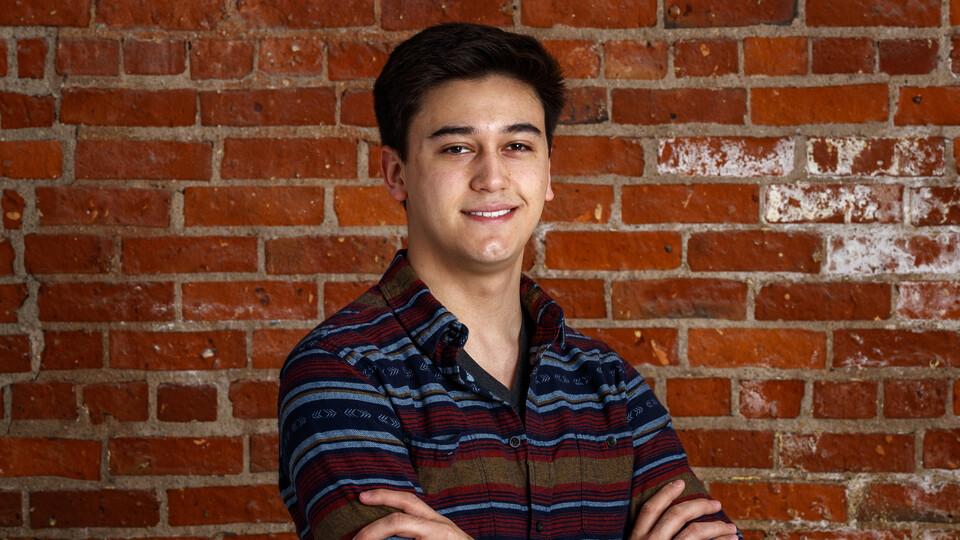 Brandon Ramos. Photo credit: Craig Chandler, University Communication