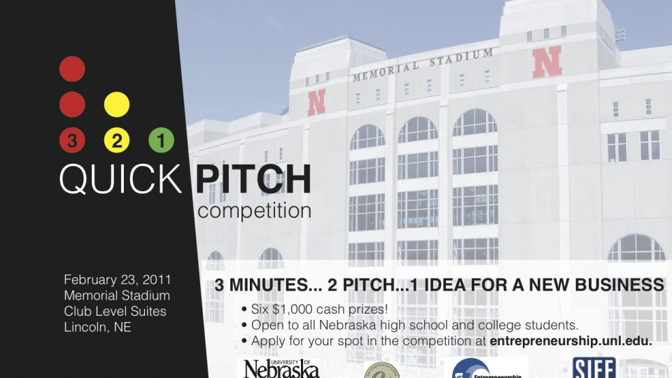 3 2 1 Quick Pitch Competition Is Feb 23 Application