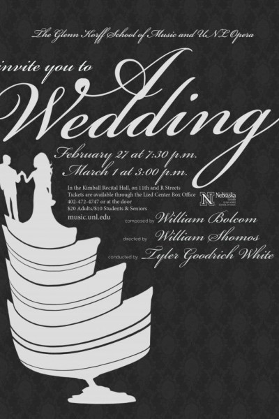 "The UNL opera production of ""A Wedding"" opens Feb. 27 in Kimball Hall."