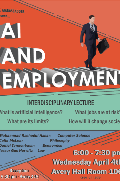 AI and Employment Lecture Poster