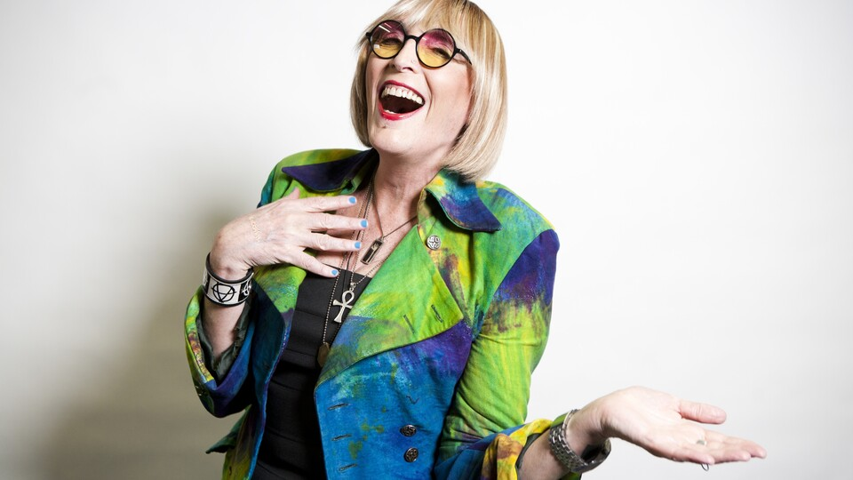 Trans trailblazer Kate Bornstein will host a Zoom session for the UNL community on Wednesday, September 16, 2020 at 7:30 p.m. via Zoom.