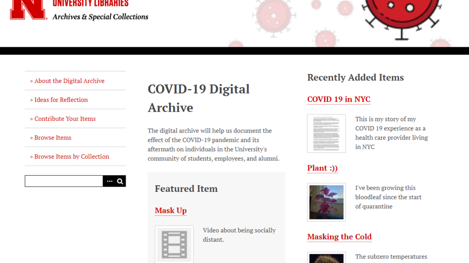 Submit your first-hand experience of COVID-19 to help the Archives preserve history.collect