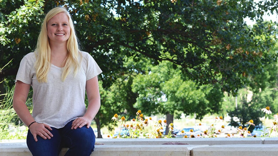 School of Natural Resources graduate student Catie Finkenbiner has been awarded a $25,000 Monsanto Graduate Student Scholarship. (Mekita Rivas | Natural Resouces)