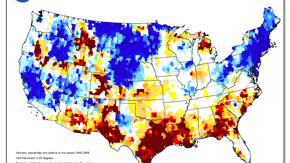 Show A Map Of Texas.Texas Drought Visible In New National Groundwater Maps Unl