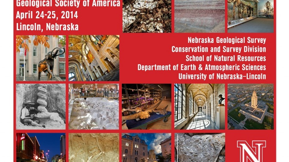 The north-central section meeting of the Geological Society of America will take place on April 24-25 in Lincoln. Several representatives from UNL's School of Natural Resources and the Conservation and Survey Division are involved with the two-day event.