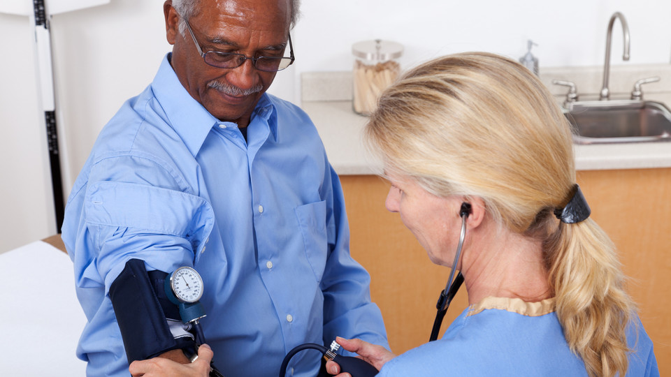 The University Health Center offers blood pressure checks and other services to faculty members.