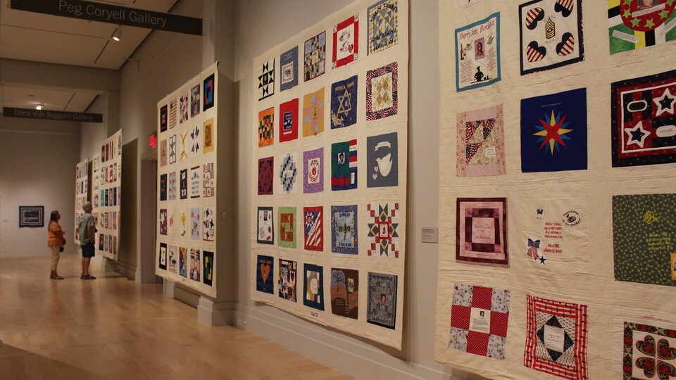 PaCurrently on view at the IQM: United in Memory 9/11 Victims Memorial Quiltat the International Quilt Museum