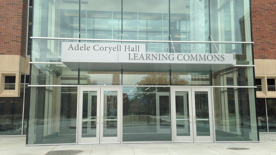 North Entrance of Adele Hall Learning Commons