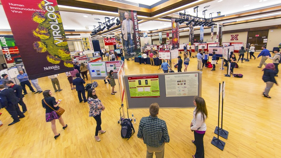 Students presenting their research at the 2016 UNL Spring Research Fair