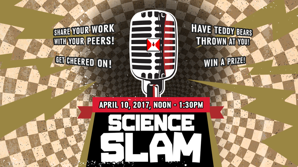 The second annual Science Slam is noon to 1:30 p.m. April 10 in the Nebraska Union Colonial Room.