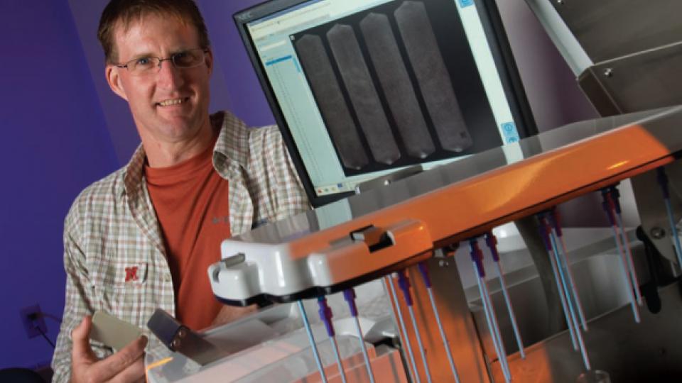 Food microbiologist Andy Benson