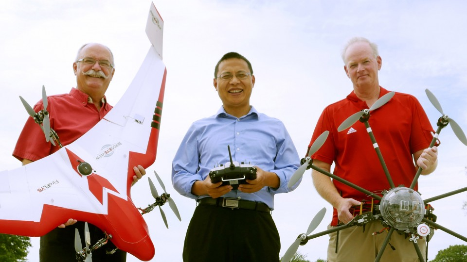 From left to right: Wayne Woldt, Zhenghong Tang, Jacob Smith III