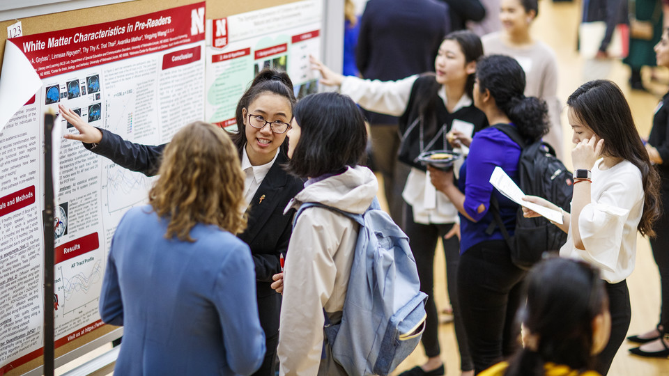 Undergraduate students present their research and creative activities projects at the 2019 Spring Research Fair