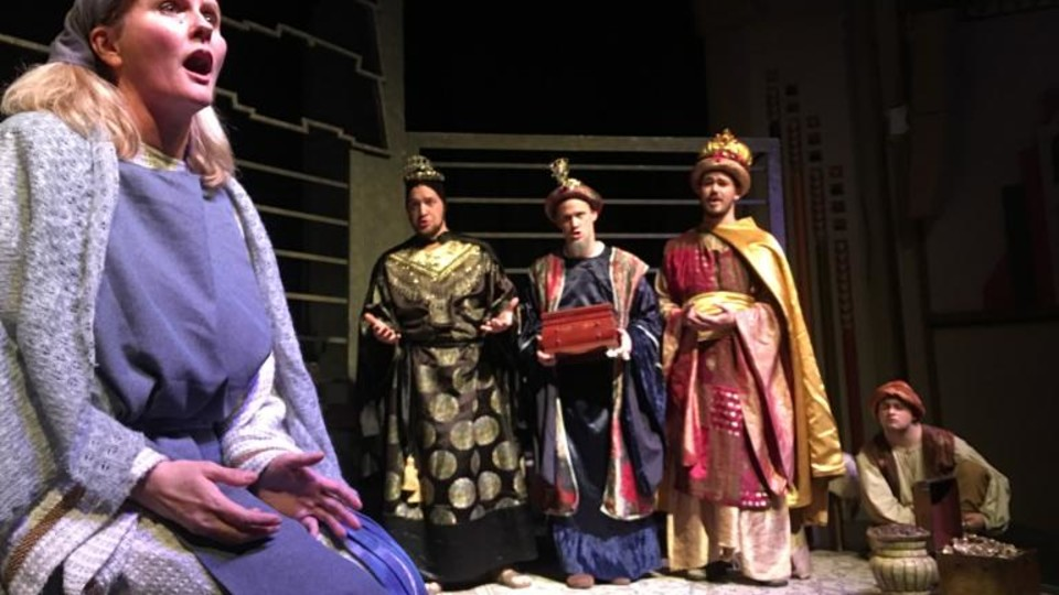 """Scene from """"Amahl and the Night Visitors."""""""