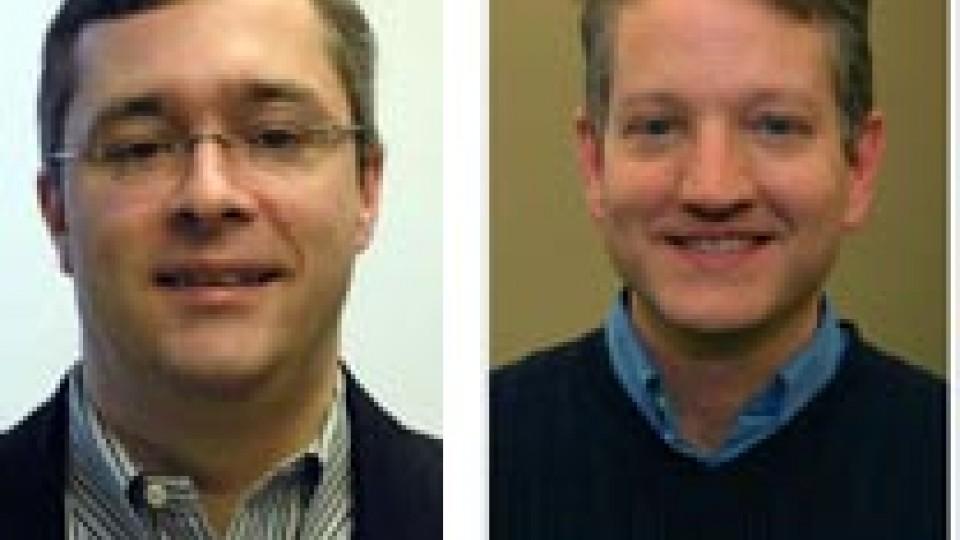 Stephen Ramsay, left; Brian Pytlik Zillig