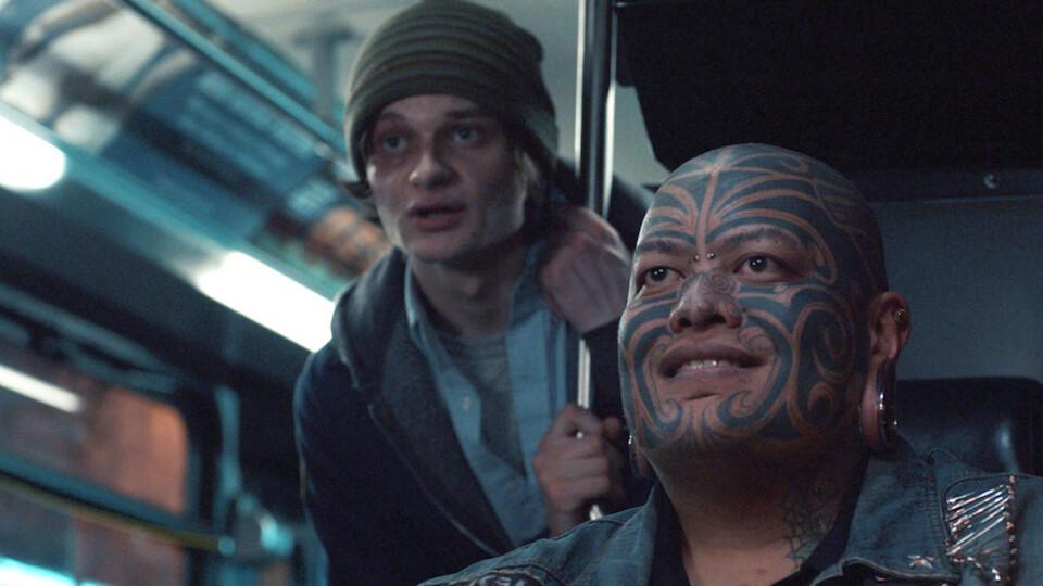 "Charlie Tahan & Pineapple Tangaroa in ""Drunk Bus"""