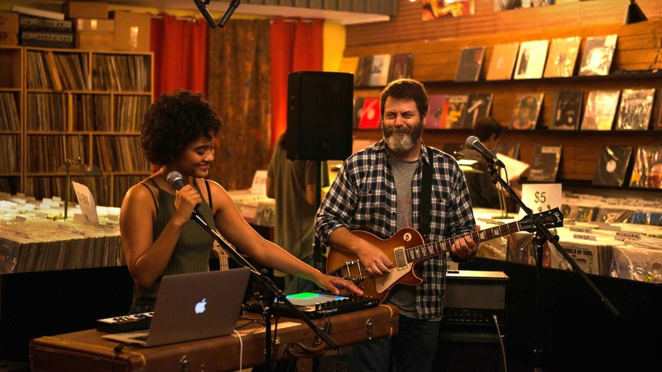 """Nick Offerman and Kiersey Clemons star as father and daughter in """"Hearts Beat Loud."""""""