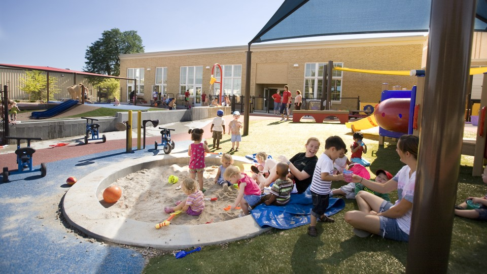 Children play at the UNL Children's Center. A survey developed by Gallup and the University of Nebraska system's Buffett Early Childhood Institute, showed that the majority of Nebraskans value and support early care and education for young children.