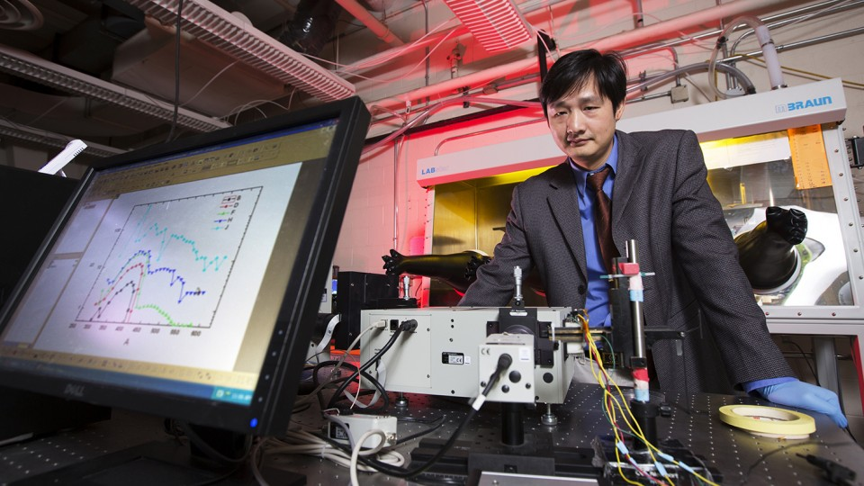 UNL's Jinsong Huang is leading the UNL portion of a multi-university solar panel project funded by the National Science Foundation.