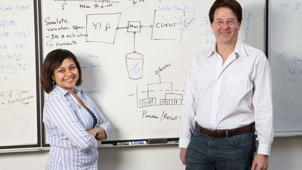 UNL computer scientists (from left) Anita Sarma and Gregg Rothermel are part of a $3 million collaborative research project funded by the National Science Foundation.