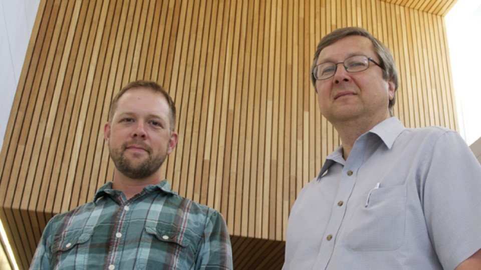 UNL's J. D. Burton (left) and Evgey Tsymbal are part of an international research team featured in the July 24 issue of Nature Communications.