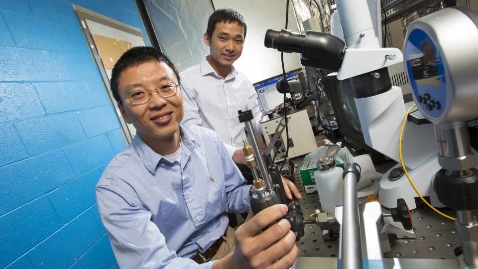 Ming Han (left) and Guigen Liu.