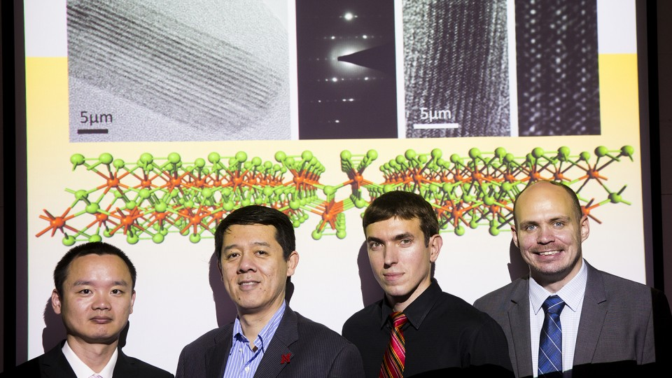 UNL chemists involved in the studies include Jun Dai, postdoctoral researcher; Xiao Cheng Zeng, Ameritas University Professor of chemistry; Alexander Sinitskii, assistant professor of chemistry; and Alexey Lipatov, postdoctoral researcher.