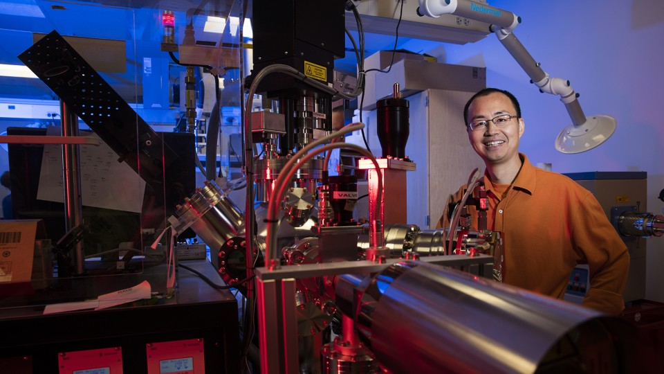 Xiaoshan Xu, assistant professor of physics, has earned a CAREER award from the National Science Foundation. The award will further Xu's research into a nanomaterial that could make electronics smaller, faster and more energy efficient.