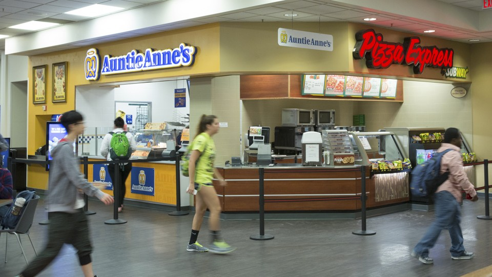 The Subway Pizza Express/Auntie Anne's Pretzel location in the Nebraska Union will close in December. UNL will seek a new vendor for the space.