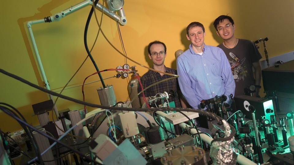 From left: Matthew Robinson, Martin Centurion and Jie Yang.