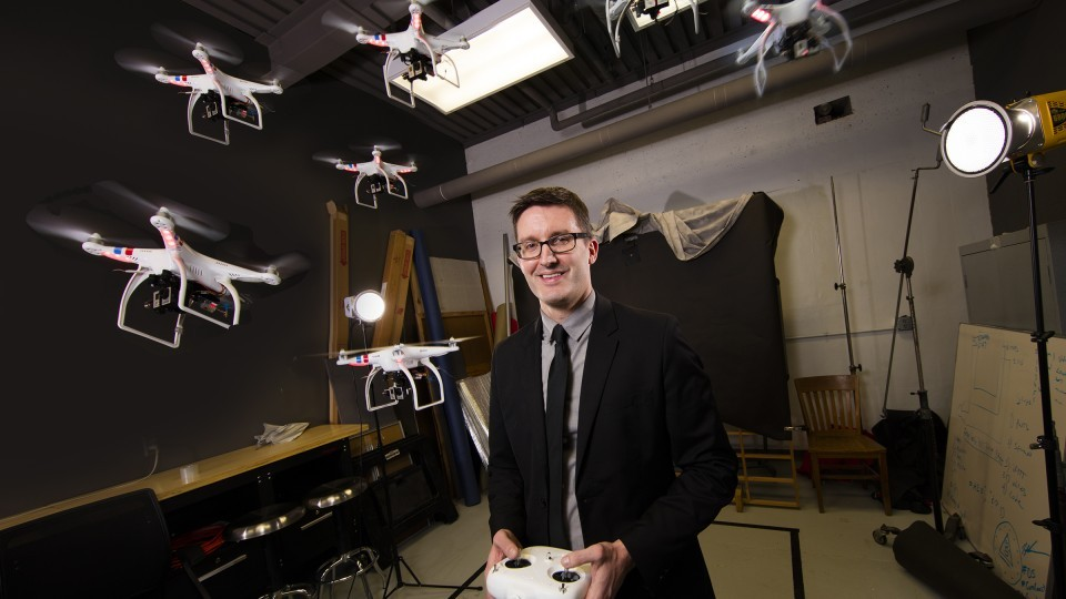 Through his work at Nebraska, Professor of Practice of Journalism Matt Waite has become a leading voice in drone journalism.